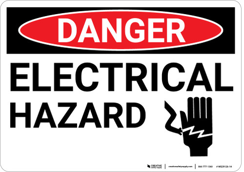 Danger: Electrical Hazard with Graphic - Wall Sign