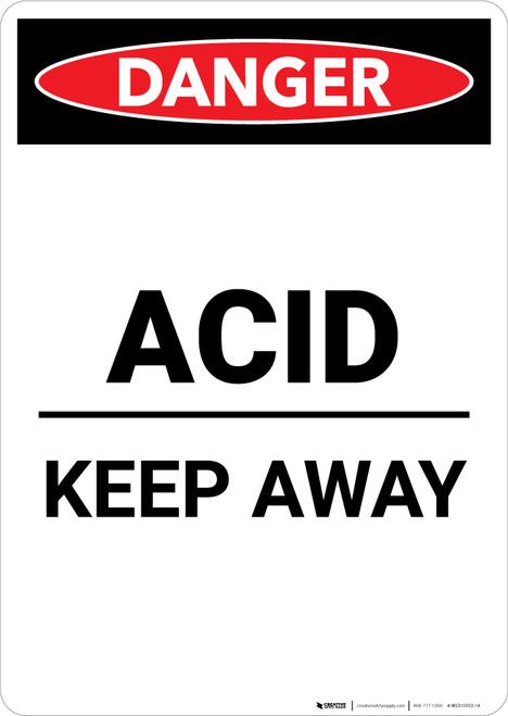 Acid Keep Away - Portrait Wall Sign