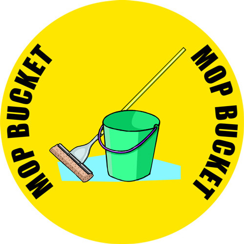 Mop-n-Bucket Customized Floor Safety Sign
