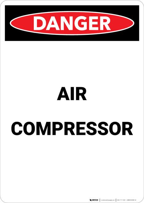 Air Compressor - Portrait Wall Sign