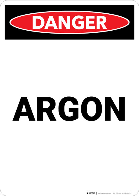Argon - Portrait Wall Sign
