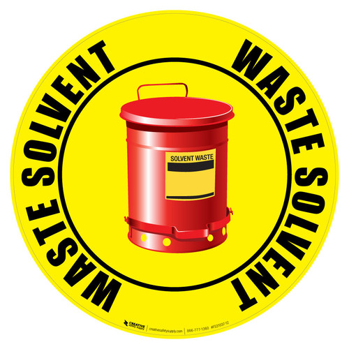 Floor Sign - Waste Solvent Can