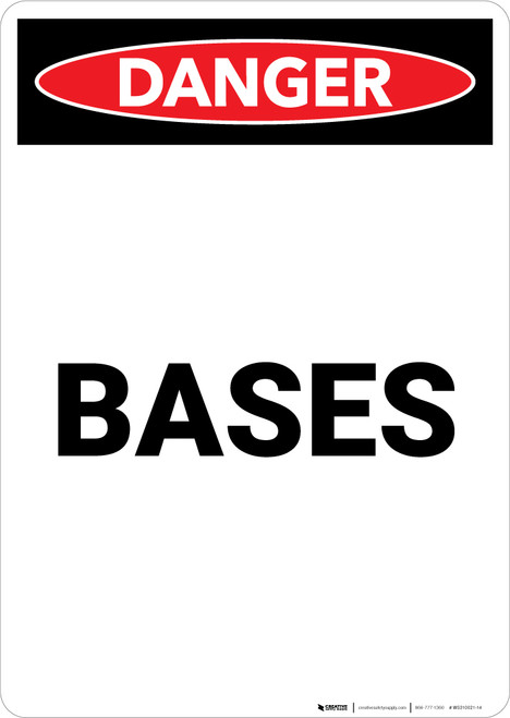 Bases - Portrait Wall Sign