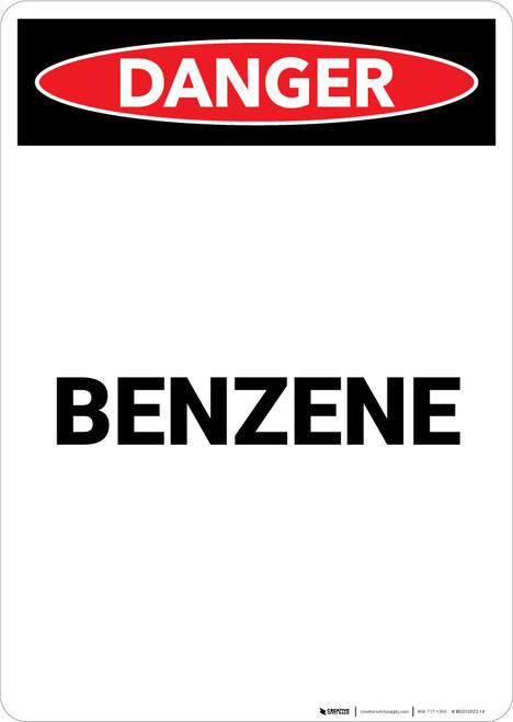 Benzene - Portrait Wall Sign