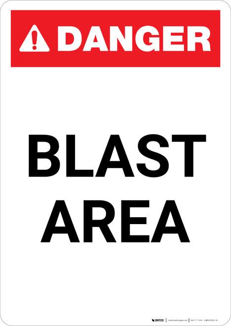 Blast Area - Portrait Wall Sign