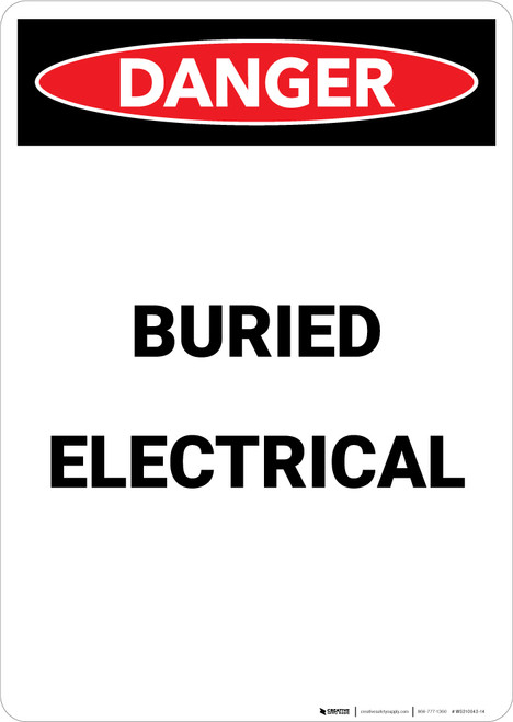 Buried Electrical - Portrait Wall Sign