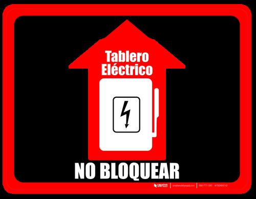 Tablero Eléctrico - No Bloquear (Electrical Panel - Do Not Block)  - Floor Sign