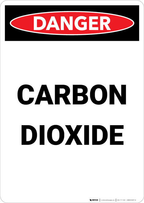 Carbon Dioxide - Portrait Wall Sign