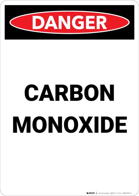 Carbon Monoxide - Portrait Wall Sign