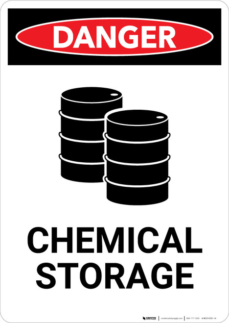 Chemical Storage with Graphic - Portrait Wall Sign