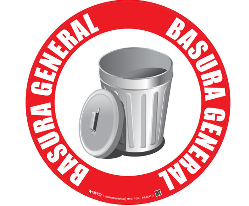 Basura General (General Trash) Floor Sign