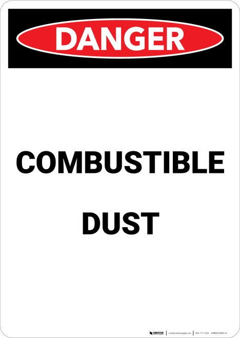 Combustible Dust - Portrait Wall Sign