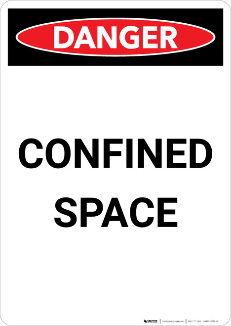 Confined Space - Portrait Wall Sign