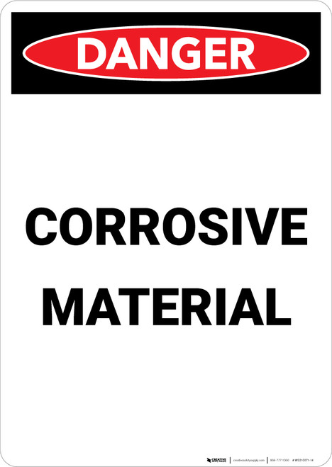 Corrosive Material - Portrait Wall Sign