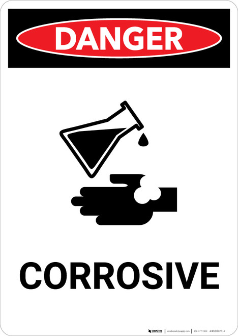 Corrosive With Icon - Portrait Wall Sign