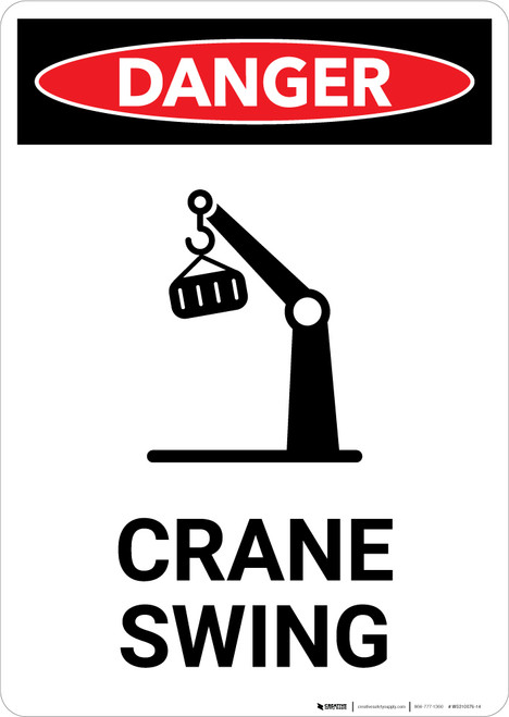 Crane Swing with Icon - Portrait Wall Sign