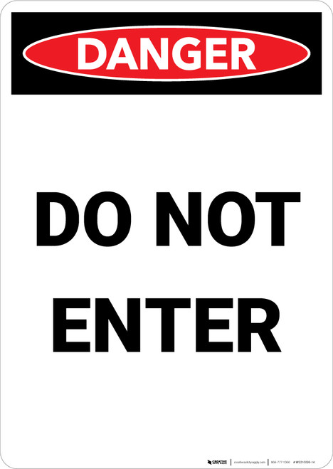 Do Not Enter - Portrait Wall Sign