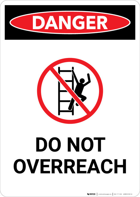 Do Not Overreach with Icon - Portrait Wall Sign