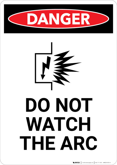 Do Not Watch the Arc with Icon - Portrait Wall Sign