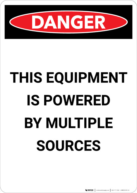 Electrical Powered Multiple Sources - Portrait Wall Sign