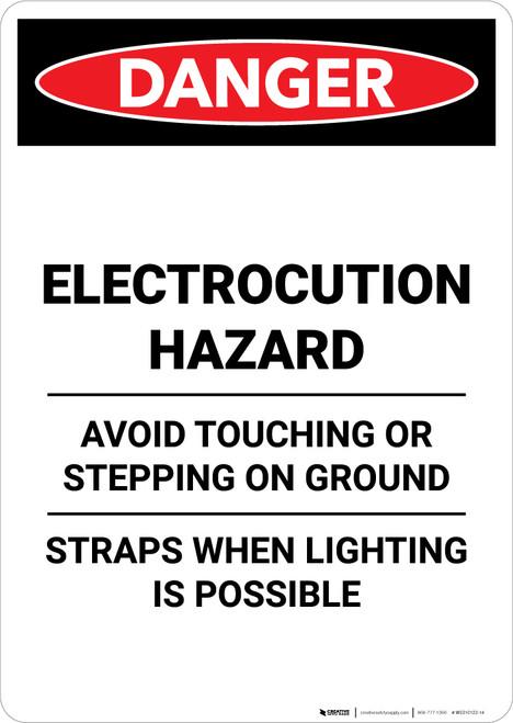 Electrocution Hazard Avoid Touching - Portrait Wall Sign