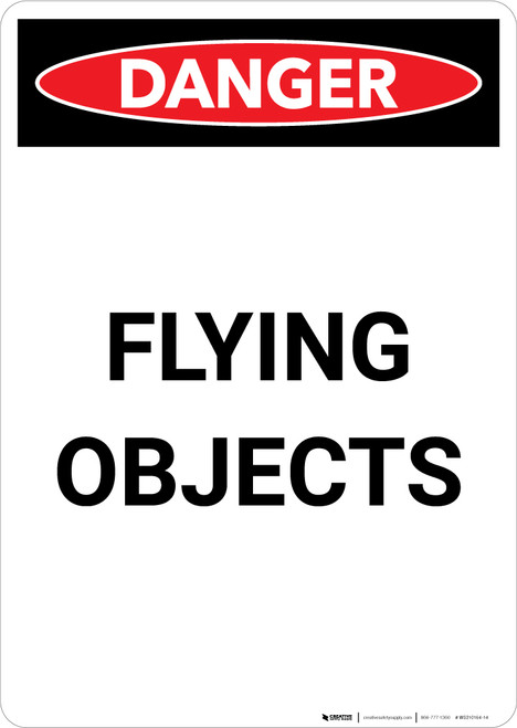Flying Objects - Portrait Wall Sign