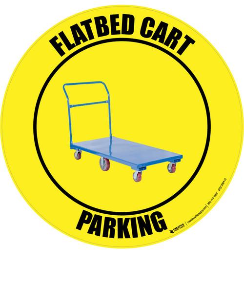 Flatbed Cart Parking -  Floor Sign