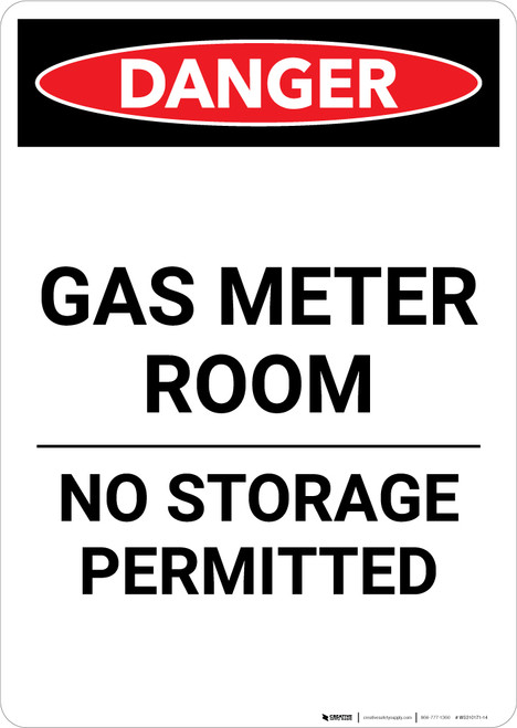 Gas Meter Room - Portrait Wall Sign