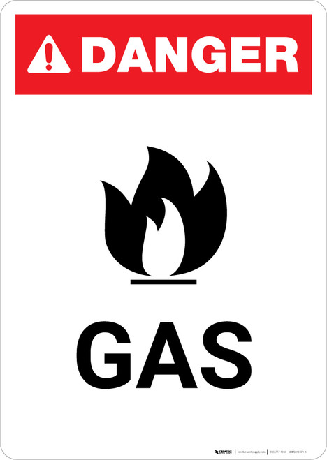 Gas with Icon - Portrait Wall Sign