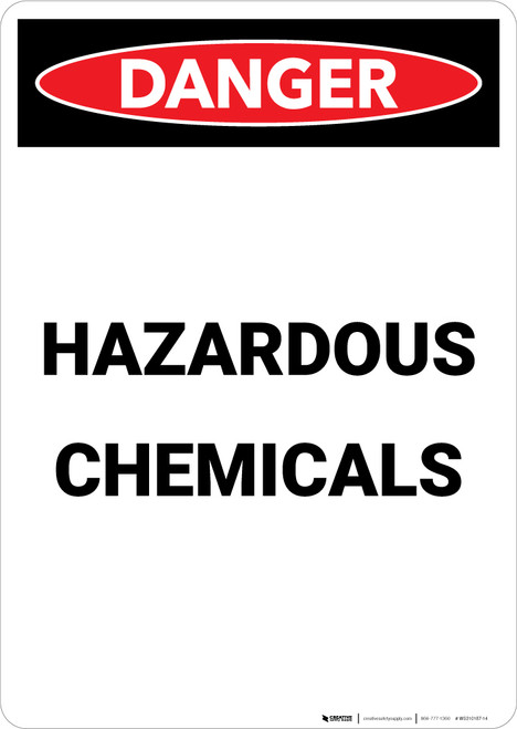 Hazardous Chemicals - Portrait Wall Sign