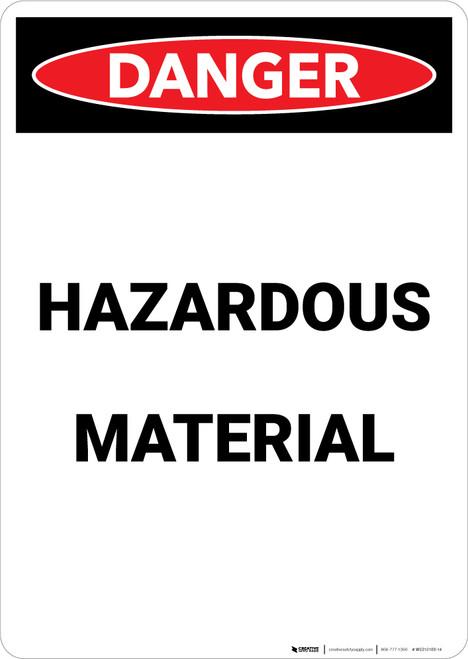 Hazardous Materials - Portrait Wall Sign
