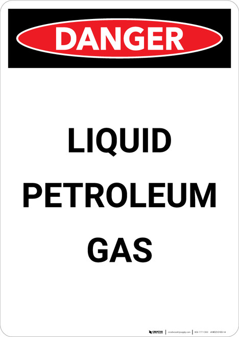 Liquid Petroleum Gas - Portrait Wall Sign