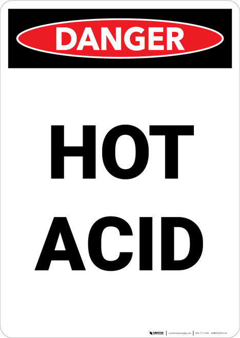 Hot Acid - Portrait Wall Sign