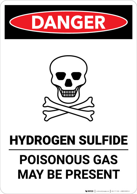 Hydrogen Sulfide - Poisonous Gas - Portrait Wall Sign