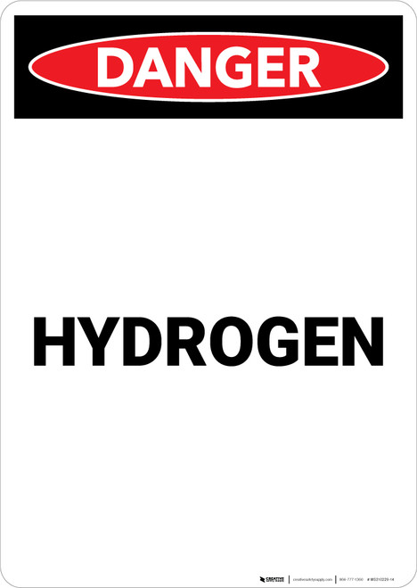 Hydrogen - Portrait Wall Sign