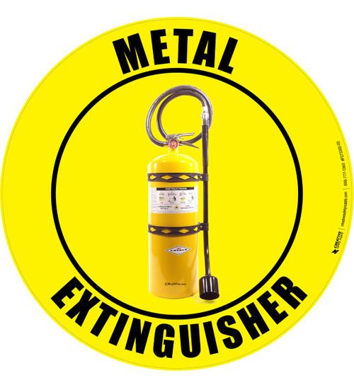 Metal Extinguisher -  Floor Sign