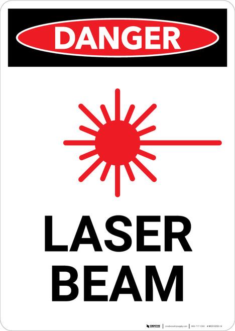 Laser Beam - Portrait Wall Sign
