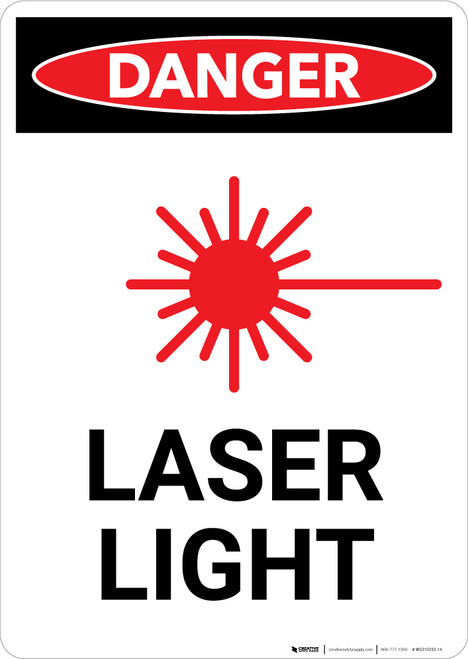 Laser Light with Icon - Portrait Wall Sign