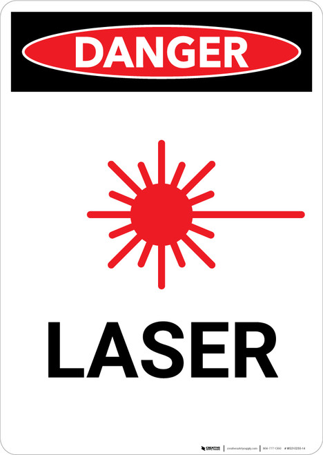Laser with Graphic - Portrait Wall Sign