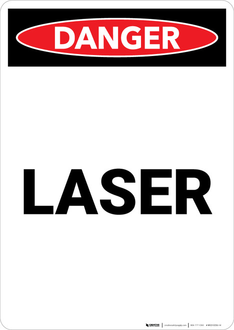 Laser - Portrait Wall Sign