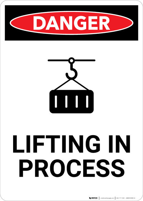 Lifting in Process - Portrait Wall Sign