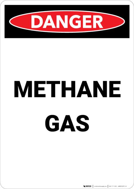 Methane Gas - Portrait Wall Sign