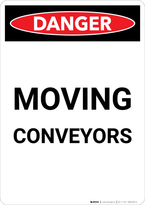 Moving Conveyors - Portrait Wall Sign