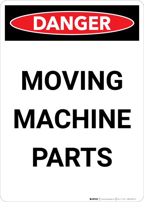Moving Machine Parts - Portrait Wall Sign