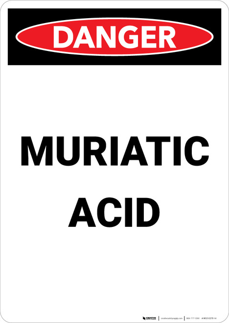 Muriatic Acid - Portrait Wall Sign