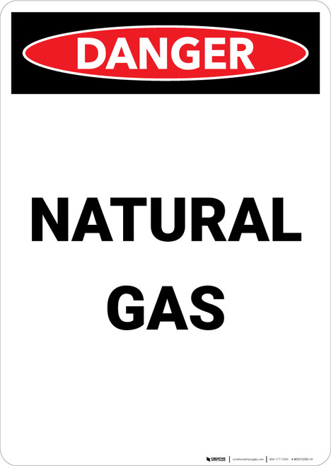 Natural Gas - Portrait Wall Sign
