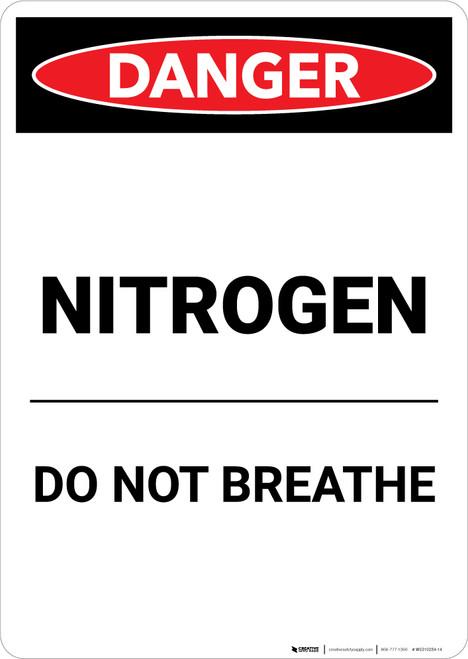 Nitrogen Do Not Breath - Portrait Wall Sign