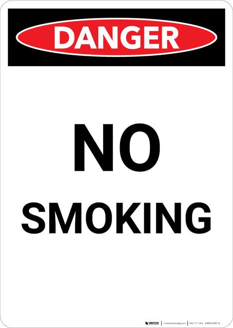 No Smoking - Portrait Wall Sign