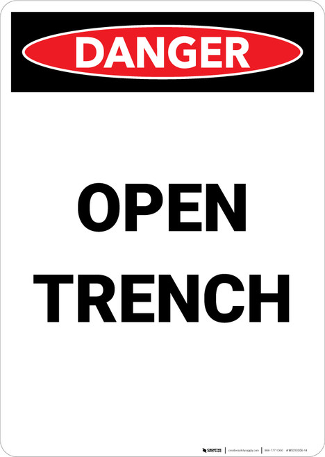 Open Trench - Portrait Wall Sign