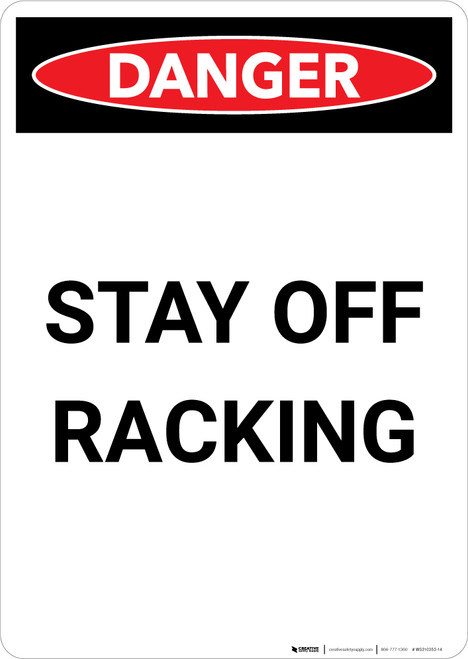 Stay Clear Of Moving - Portrait Wall Sign